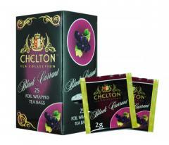 Челтон Premium черный чай с черной смородиной