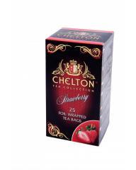 Чай Челтон, черный чай с клубникой