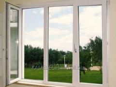 النوافذ PVC البلاستيكية.