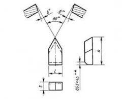"Пластины типа ""11"" для резьбовых резцов ГОСТ 25398-90"