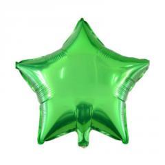 """Шар фольгированный с гелием """"звезда""""(46см), зеленый"""