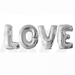 Шар фольгированный «буквы love″(60см), воздух
