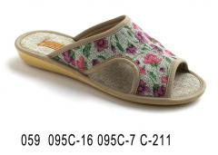 Women's slippers with 059 095-16 095 c-7 c-211