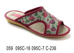 Women's slippers with 059 095-16 095 c-7 c-236