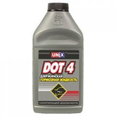 Тормозная Unix жидкость Unix ДОТ-4 910гр