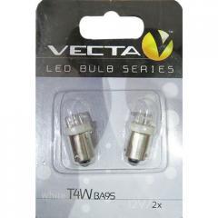 Лампочка Vecta светодиодная с цоколем T4W 6017 белая