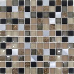 Мозаика Wellness Alumino braun beige grun Mix 30x30см