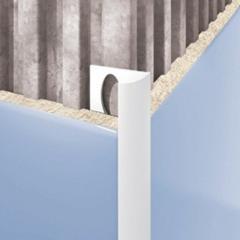 Внешний профиль для плитки белый 2500х7мм