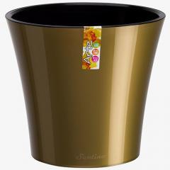 Горшок для цветов Arte Золотой-Черный 0.6л