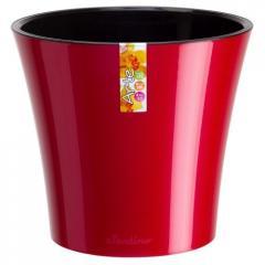 Горшок для цветов Arte Красный-Черный 1.2л