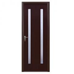 Дверное полотно Квадра Вера P1 каштан 200х80см