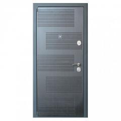 Дверь металлическая DT18 Wenge/White левая 205х86x7см