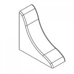 Заглушка для профиля ПВХ белый 21х21мм