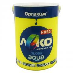 Краска глянцевая Леко Aqua желтый 0.7л