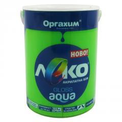 Краска глянцевая Леко Aqua зеленый 0.7л