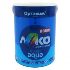 Краска глянцевая Леко Aqua синий 0.7л