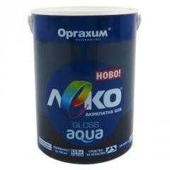 Краска глянцевая Леко Aqua черный 0.7л