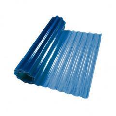 Пластиковый шифер волнистый 2x10м синий
