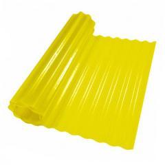 Пластиковый шифер волнистый 2x5м желтый