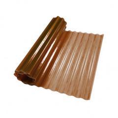 Пластиковый шифер волнистый 2x5м темно-коричневый