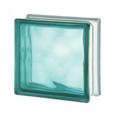 Стеклоблок бирюзовый Turquoise Wave