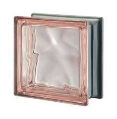 Стеклоблок розовый Rosa