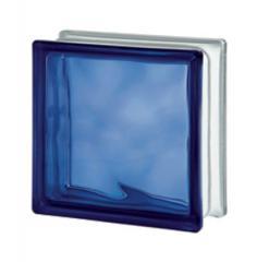 Стеклоблок синий Blue Wave