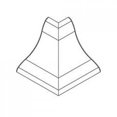 Угол внешний для профиля ПВХ алюминий 21х21мм