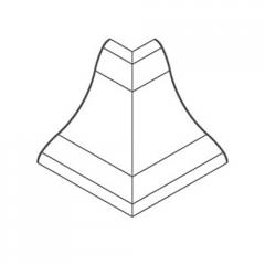 Угол внешний для профиля ПВХ темный каштан 21х21мм