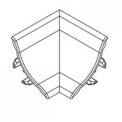 Угол внутренний для профиля ПВХ алюминий 21х21мм