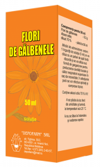 Marigold flowers, a solution of 50 ml