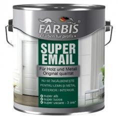 Эмаль SUPER белоснежная быстросохнущая FABRIS