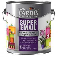 Эмаль SUPER цветная, быстросохнущая FABRIS