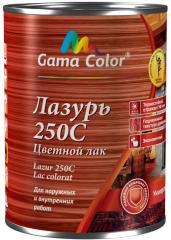 Лак цветной термостойкий lazur 250с gama-color