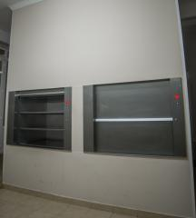 Lifts, elevators for moving food and beverage, feed raw material for cookware. Cargo Restaurant Elevator.