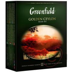 Greenfield Golden Ceylon, чай черный, 100 пак.
