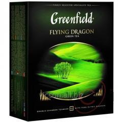 Greenfield Flying Dragon, зеленый чай, 100 пак.