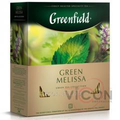 Greenfield Green Melissa, зеленый чай, 100 пак.