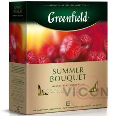 Greenfield Summer Bouquet, травяной чай, 100 пак.