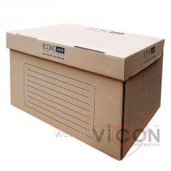 Контейнер архивный, коричневый картон, ECONOMIX