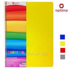 Тетрадь А4 с цветными разделителями, 80 листов, на