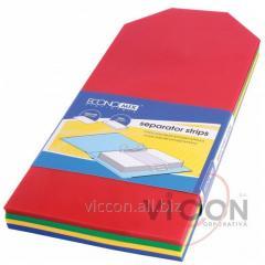Разделители пластиковые цветные, 240 x 105 mm,