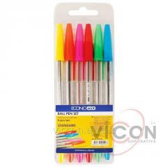 Набор цветных шариковых ручек STANDARD; 6 цветов
