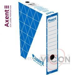 Бокс архивный Axent 1731-02, 80 мм, синий