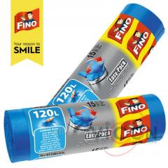 Мешки для мусора с завязками 15 шт/120 л, FINO