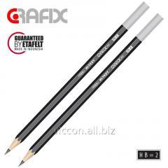 Карандаш графитовый GRAFIX 060, заточенный, без ластика, HB