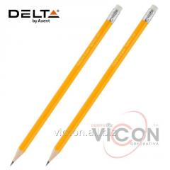 Карандаш графитный Delta D2103 с ластиком, НВ