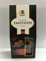 Premium Ciocolata  Les Emotions:  125 gr. Walnuts in milk chocolate in cocoa powder