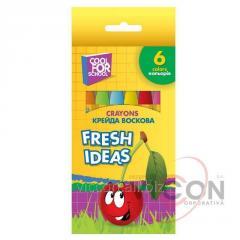 Мел восковой FRESH IDEAS, 6 цветов, CF60704