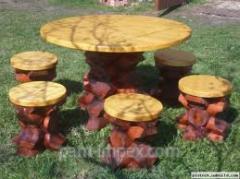 Мебель дачная, садовая и парковая из дерева